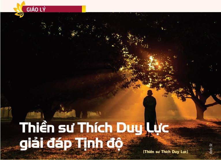 Tap chi nghien cuu phat hoc So thang 1.2016 Thien su Thich Duy Luc giai dap Tinh do 1
