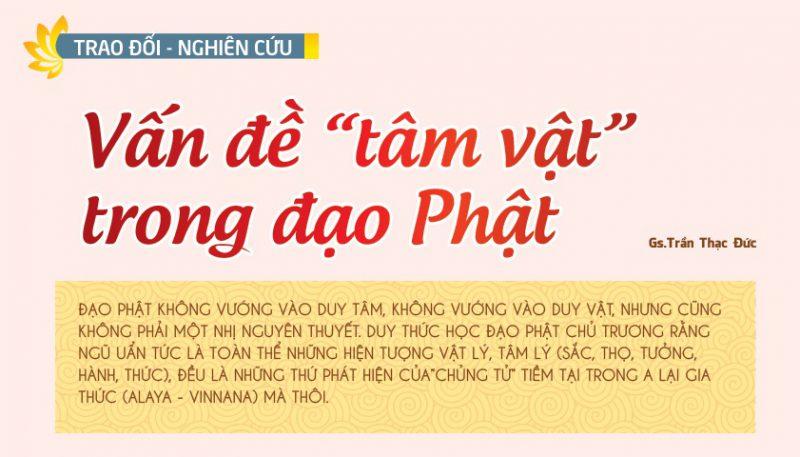 Tap chi nghien cuu phat hoc So thang 11.2016 Vam de tam vat trong dao Phat 1